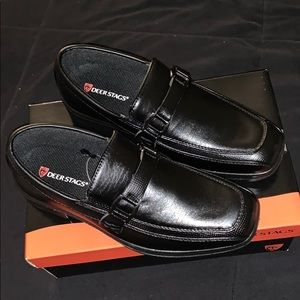 Deer Stags Boys Dress Shoes 3m 3 New Black Youth